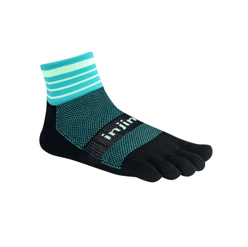 Injinji Trail Medium Weight Mini Crew Dark Mint - Primal Lifestyle - Injinji Toe Socks