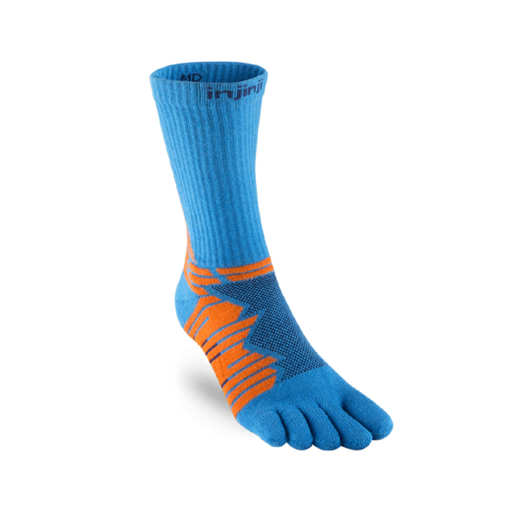 Injinji Ultra Run Crew Blue Orange - Primal Lifestyle - Injinji Toe Socks
