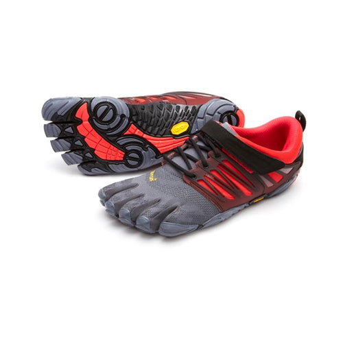 Vibram Fivefingers - Vibram Fivefingers V-Train Mens Grey Black Red - Primal Lifestyle Barefoot