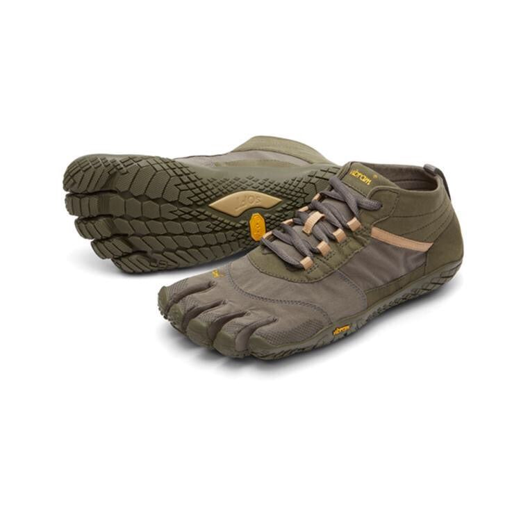 V-Trek Mens Military Green Dark Grey - Primal Lifestyle - Vibram Fivefingers