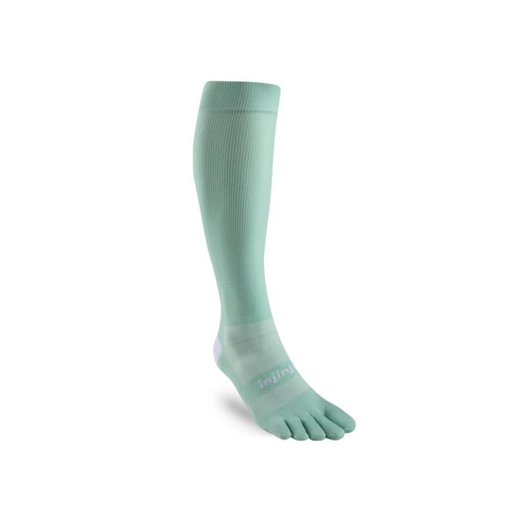 Injinji Toe Socks - Injinji Ultra Compression Toe Socks Jade - Primal Lifestyle Barefoot