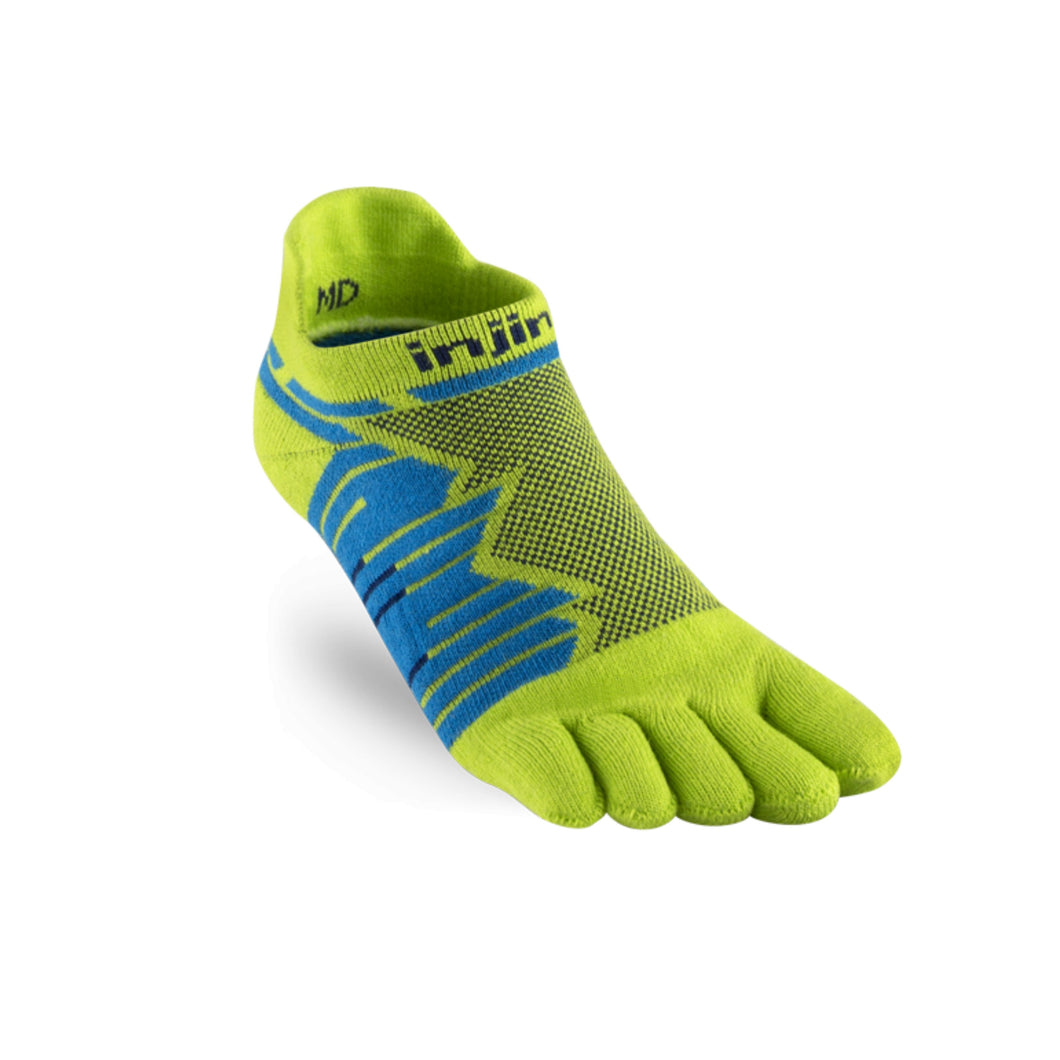Injinji Toe Socks - Injinji Ultra Run No Show Lime - Primal Lifestyle Barefoot