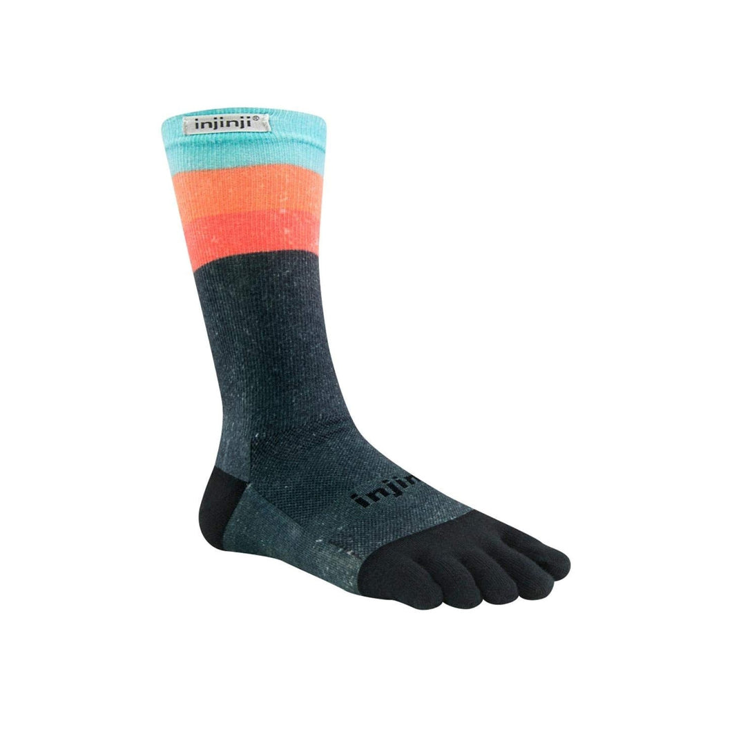 Injinji Toe Socks - Injinji Run Lightweight Crew Ascent - Primal Lifestyle Barefoot