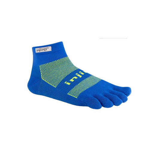 Injinji Run Original Weight Mini Crew Charged Blue - Primal Lifestyle - Injinji Toe Socks