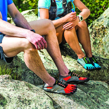 Vibram Fivefingers - Trek Ascent Mens Grey Black Orange - Primal Lifestyle Barefoot