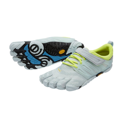 Vibram Fivefingers - Vibram Fivefingers V-Train Womens Pale Blue Safety Yellow - Primal Lifestyle Barefoot