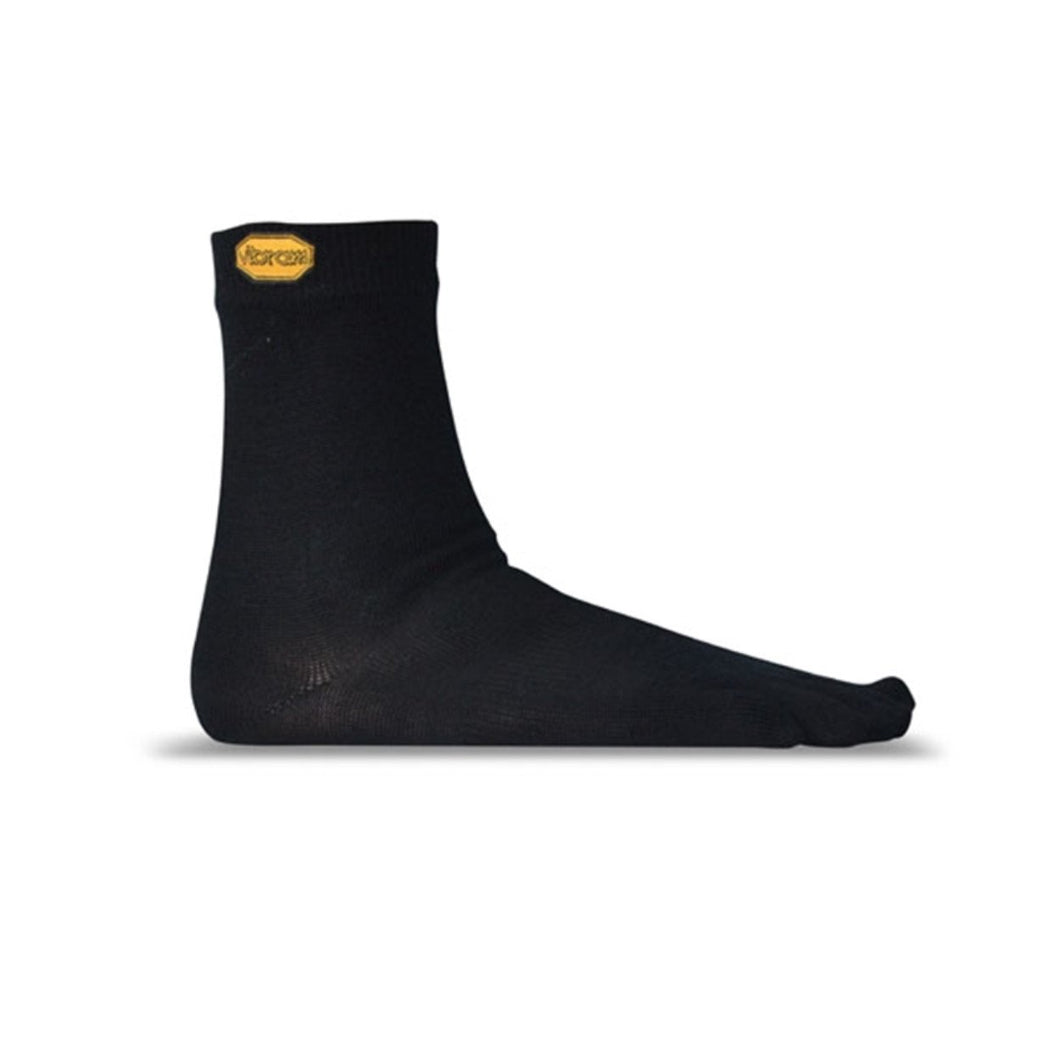 Vibram Toe Socks - Vibram Merino Wool-Blend Crew Toe Socks Black - Primal Lifestyle Barefoot