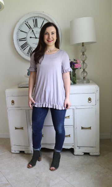 Lavender Ruffle Top