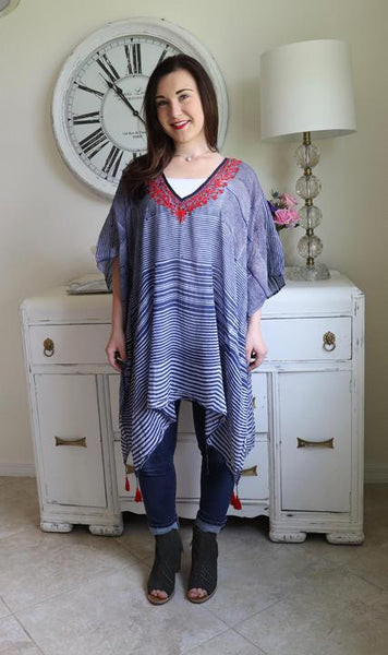 Blue & Red Tunic