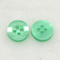 Pack of 20 4-Holes Resin Buttons, SpringGreen, 10x2.8mm, Hole: 1mm