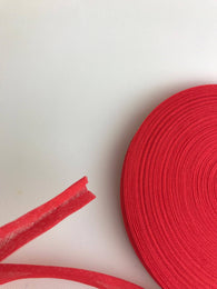 "Bias Binding Tape Red  1/2"" 12/13mm"