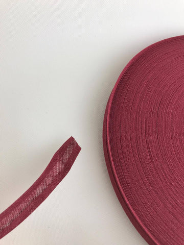 "Bias Binding Tape Plum  1/2"" 12/13mm"