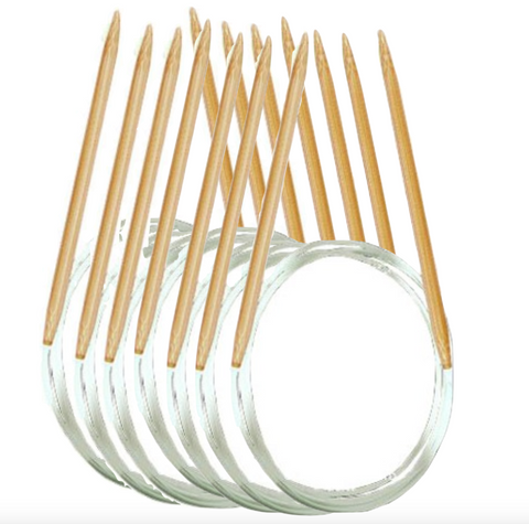 Circular knitting needle set