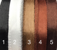 1/4 inch satin ribbons Black/White/Brown