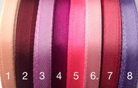 1/4 inch satin ribbons Pink/purple