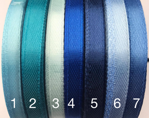 1/4 inch satin ribbons Blue