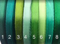 1/4 inch satin ribbons Green