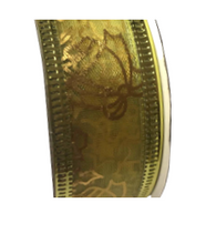 Roll of Gold organza Christmas ribbon