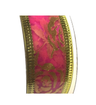 Roll of Pink rose organza ribbon