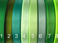 1/2 inch satin ribbons Green