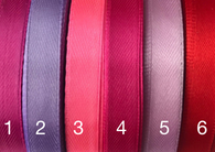 1/2 inch satin ribbon Red/Pink/Purple