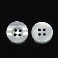 Pack of 20 4-Holes Resin Buttons, White, 10x2.8mm, Hole: 1mm