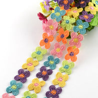 "1yd flower Polyester Ribbon, 7/8""(23mm)x1mm;"