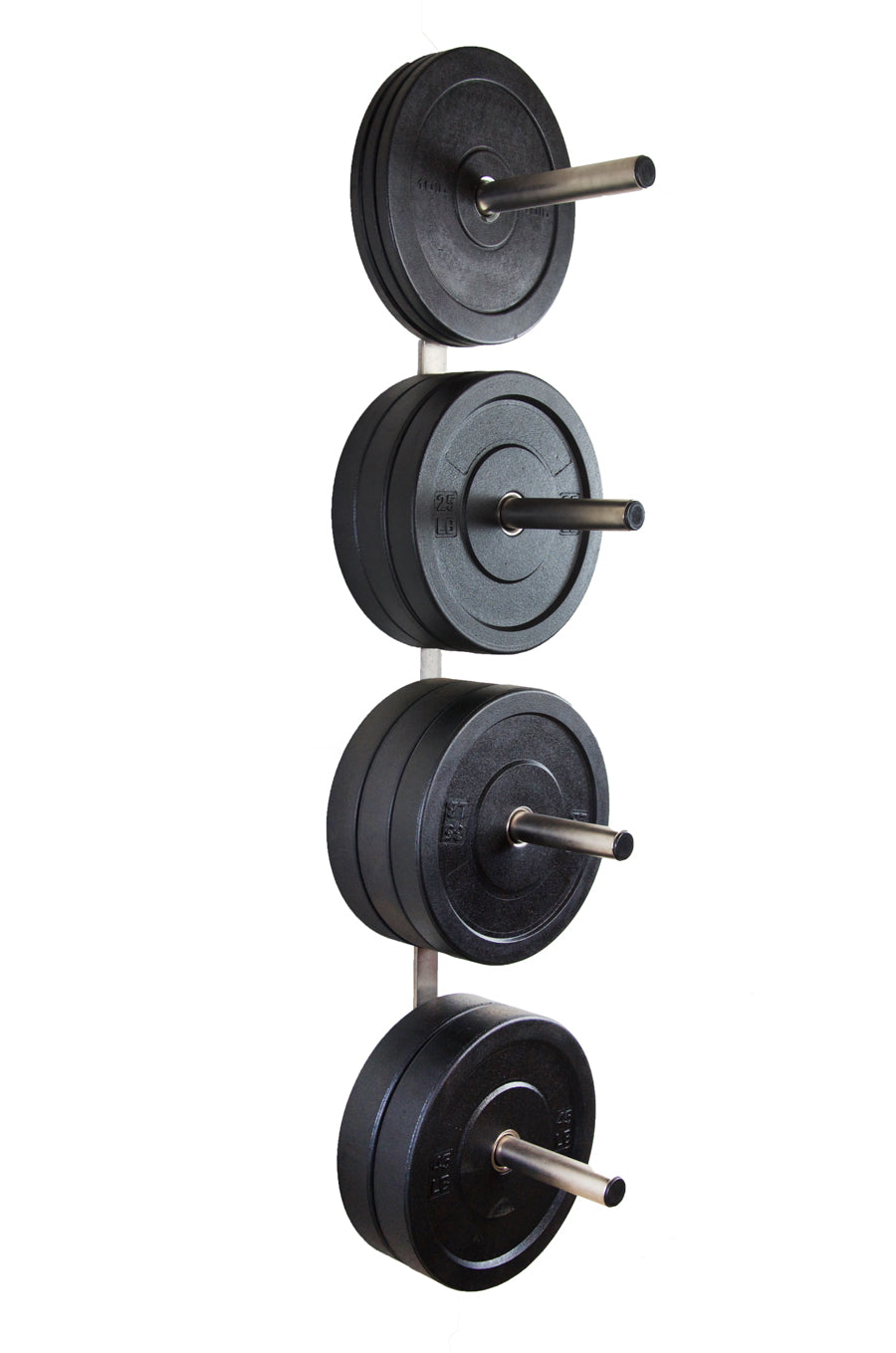 4 Peg Wall Mounted Bumper Plate Storage