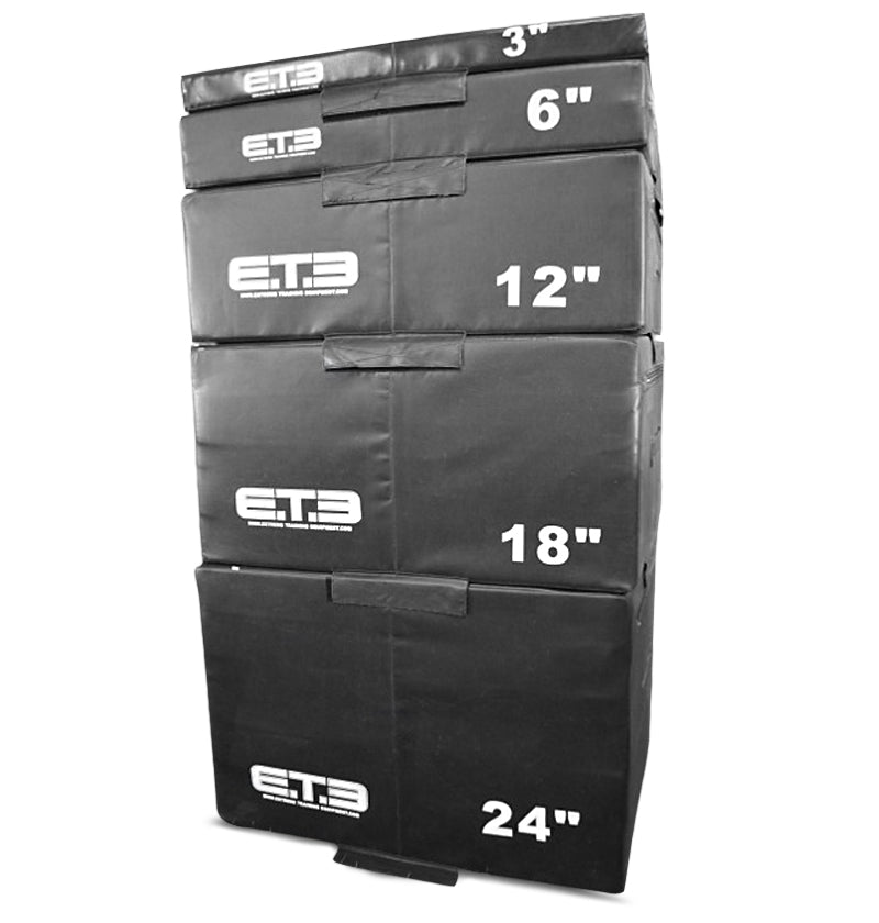 "Safety Foam Plyo Box Set 2.0 - 3,6,12,18,24"" Heavy Commercial"