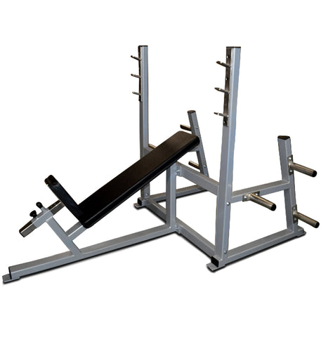 Incline Bench Press w/ Weight Holders - USA Made