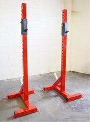 Indy 3x3 Independent Squat Stands w/ J Hooks w/ Wheels