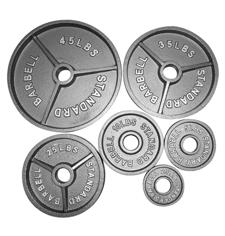 Iron Cast Olympic Plates (Pairs) (MIXED STYLE CLEARANCE) DOORBUSTER