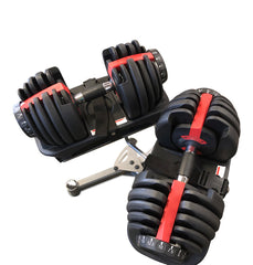 Adjustable Dumbbell Set w/ Rack