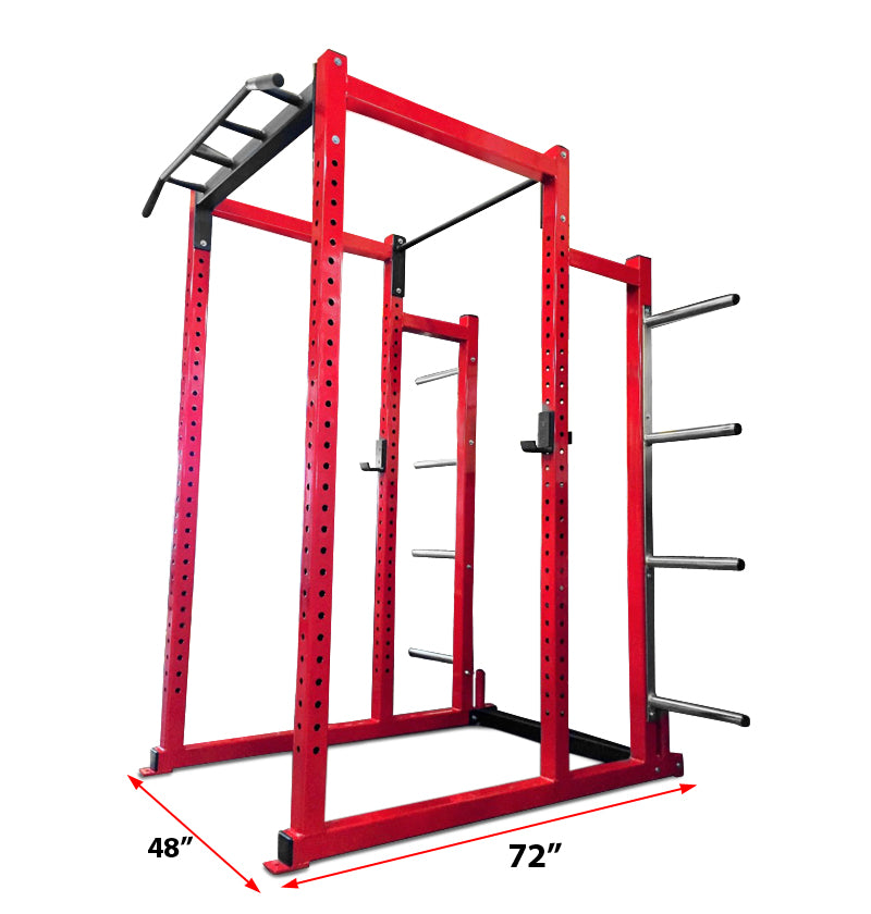 Power Rack Deluxe w/ Bumper Weight Storage (8 Pegs)