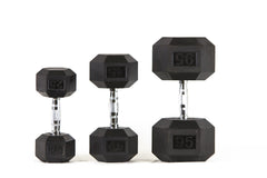 Rubber Hex Dumbbells (Pairs) (SALE)