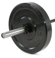 Black Bumper Plate Set (260lb) (LIMITED IN STOCK)
