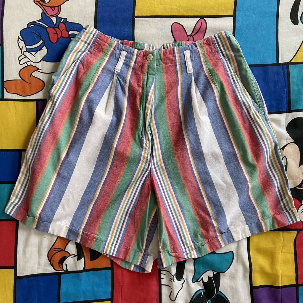 Vintage Vertical Striped Shorts. Size 12