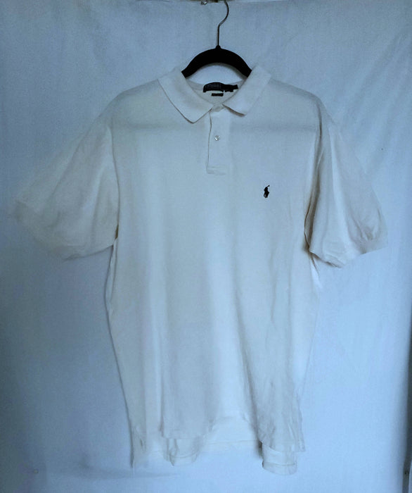 RALPH LAUREN Offwhite POLO| size Large