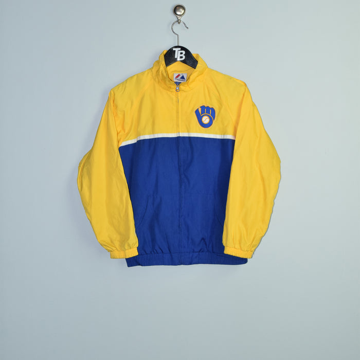 Classic Majestic Milwaukee Brewers Jacket. Youth Large