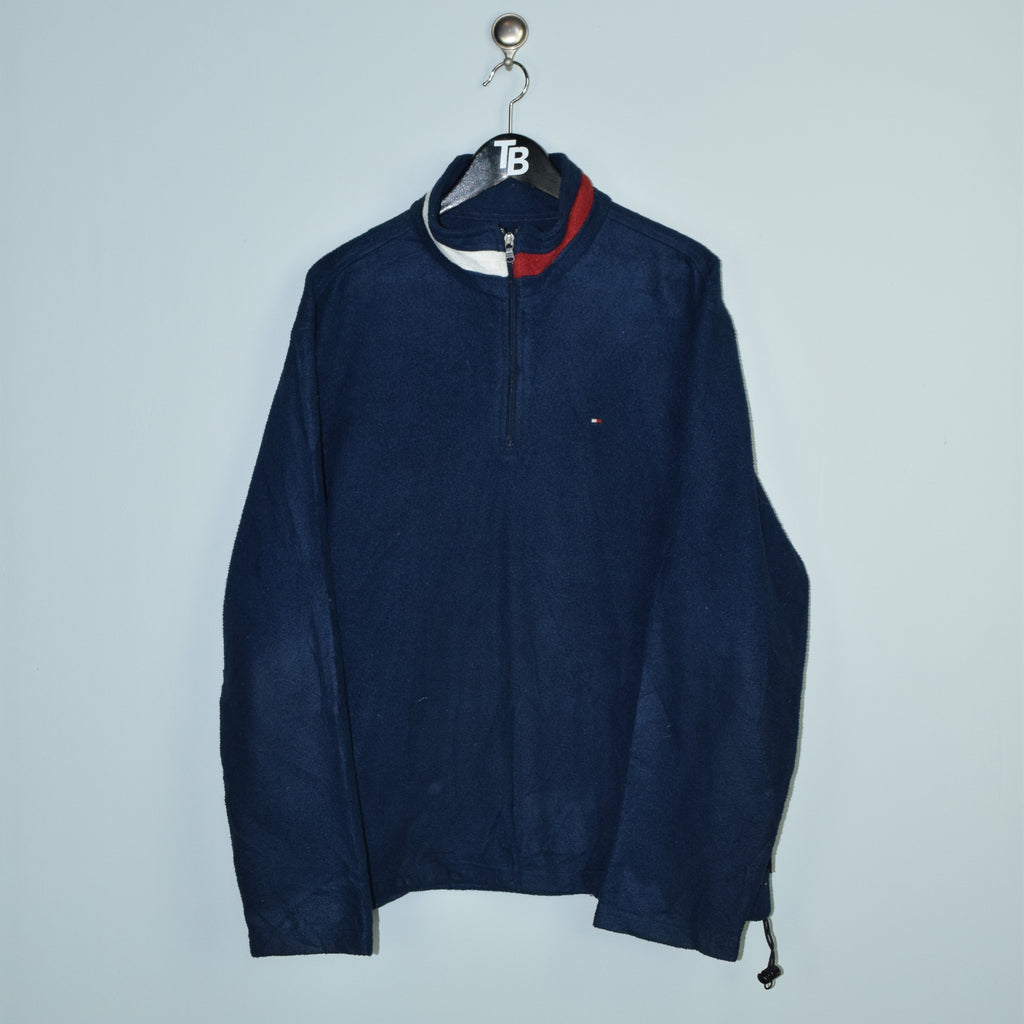 Classic Tommy Hilfiger Flag Collar Full Zip Sweater. Large