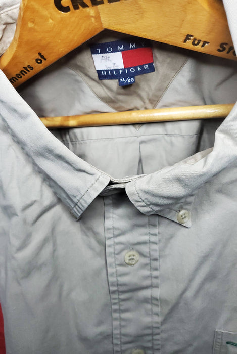 OG Tommy Hilfiger tri-color button up| size X-Large