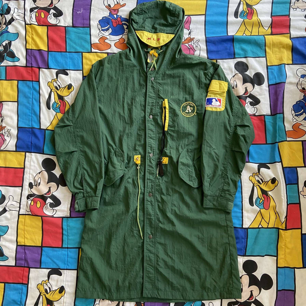 Vintage Oakland A's Trench Coat. X-Large