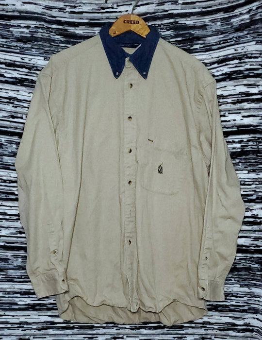OG nautica denim collar button up| size Large