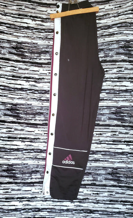 Adidas retro  Tearaways  (Black/white/ Burgundy) size Medium