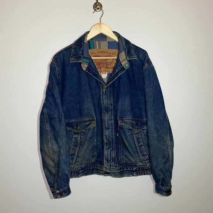 Vintage Levi's Denim Zip-Up Jacket - Large