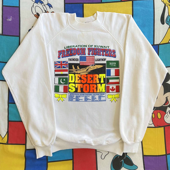 Vintage Operation Desert Storm Crewneck. X-Large