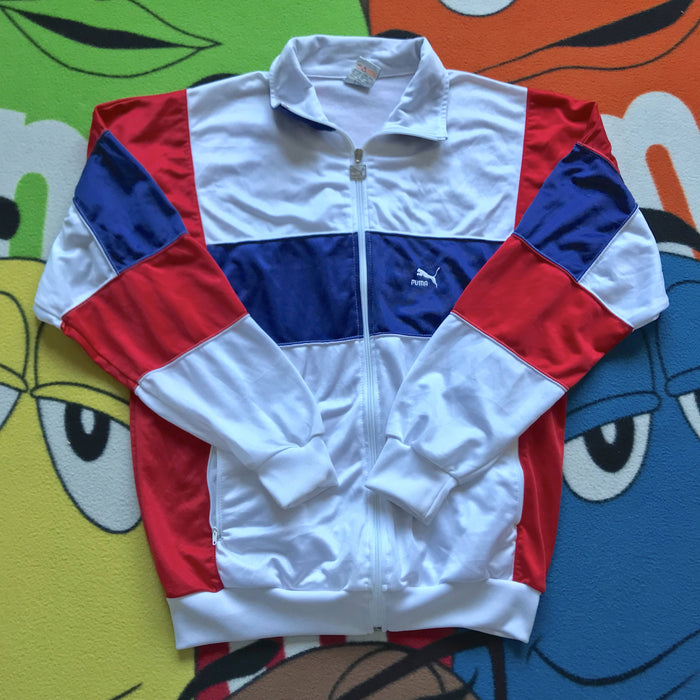 Vintage 90's Puma Track Sweater. Large