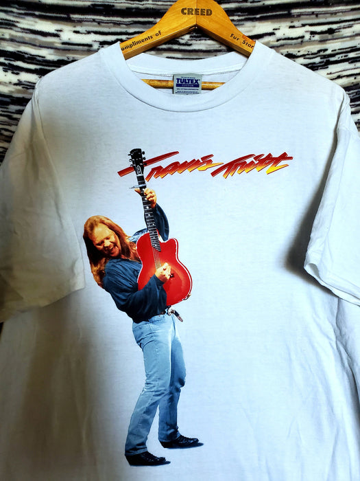 Travis Tritt 1998 Burning Thunder tour Graphic Band Tee Shirt, on a Tultex Tag |Size X-Large