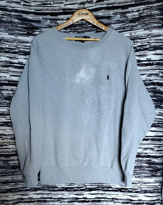 Ralph Lauren Polo Grey Crewneck *bleached flaw* |Size Large