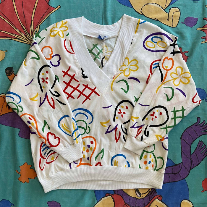 Vintage 80's Abstract Pullover. Small